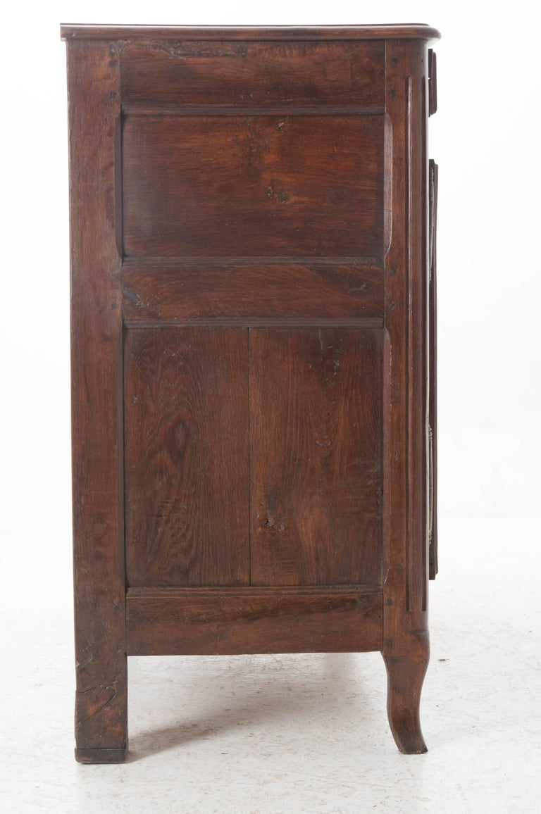 French 18th Century Carved Oak Buffet For Sale 2