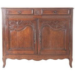 French 18th Century Carved Oak Buffet