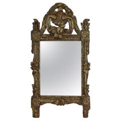 French 18th Century Carved Wooden Baroque Mirror
