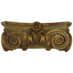 French 18th Century Carved Wooden Capital