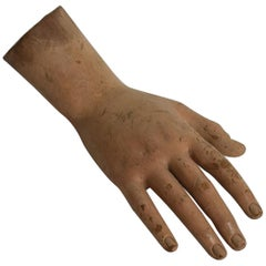 French 18th Century Carved Wooden Hand of a Saint