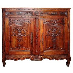 French 18th Century circa 1770 Louis XV Period Two-Door and Two-Drawer Buffet