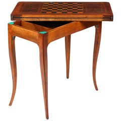 French 18th Century Console, Chess- and Dice Table, Cherrywood, Marquetry