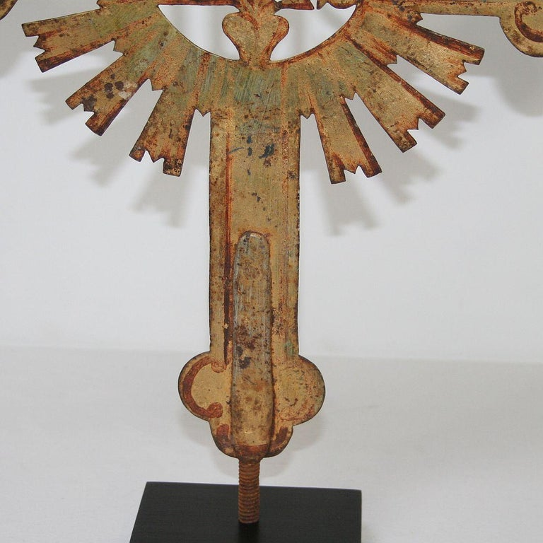 French 18th Century Forged Iron Processional Cross For Sale 6