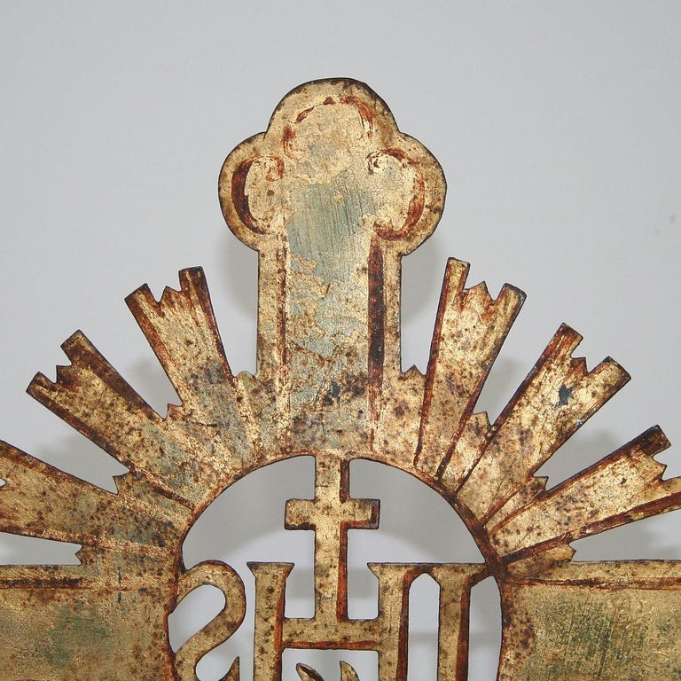 French 18th Century Forged Iron Processional Cross For Sale 7