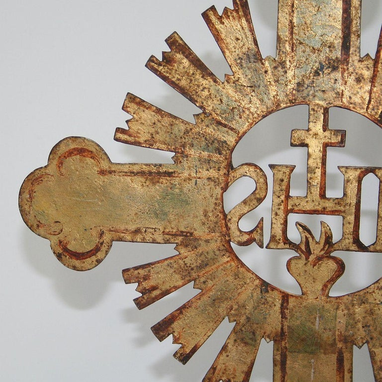 French 18th Century Forged Iron Processional Cross For Sale 8