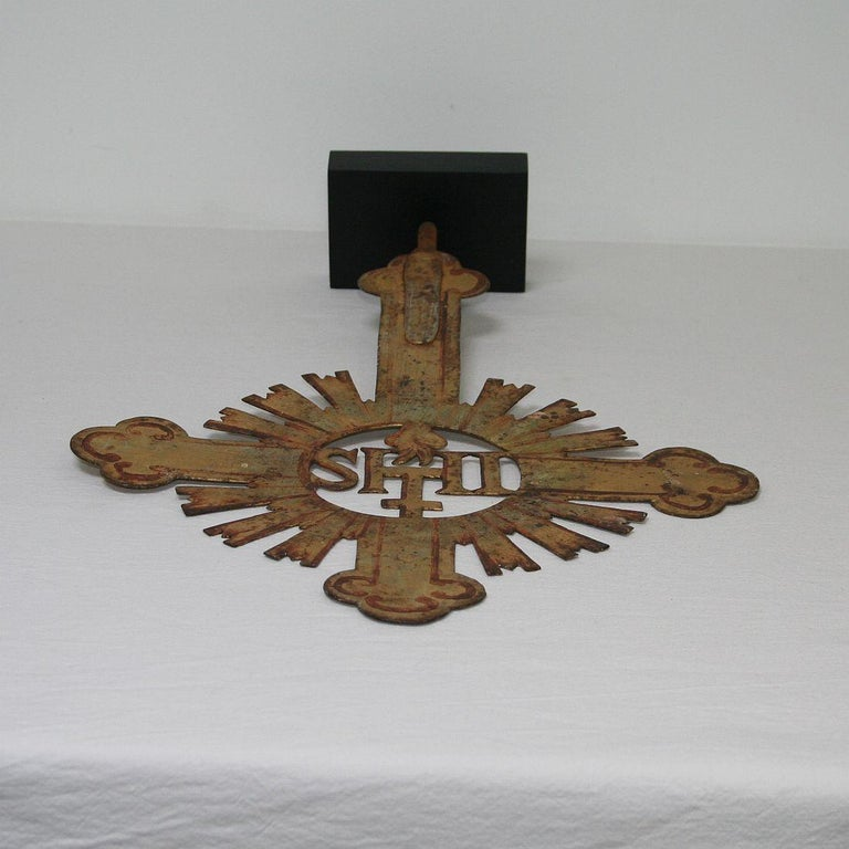 French 18th Century Forged Iron Processional Cross For Sale 12
