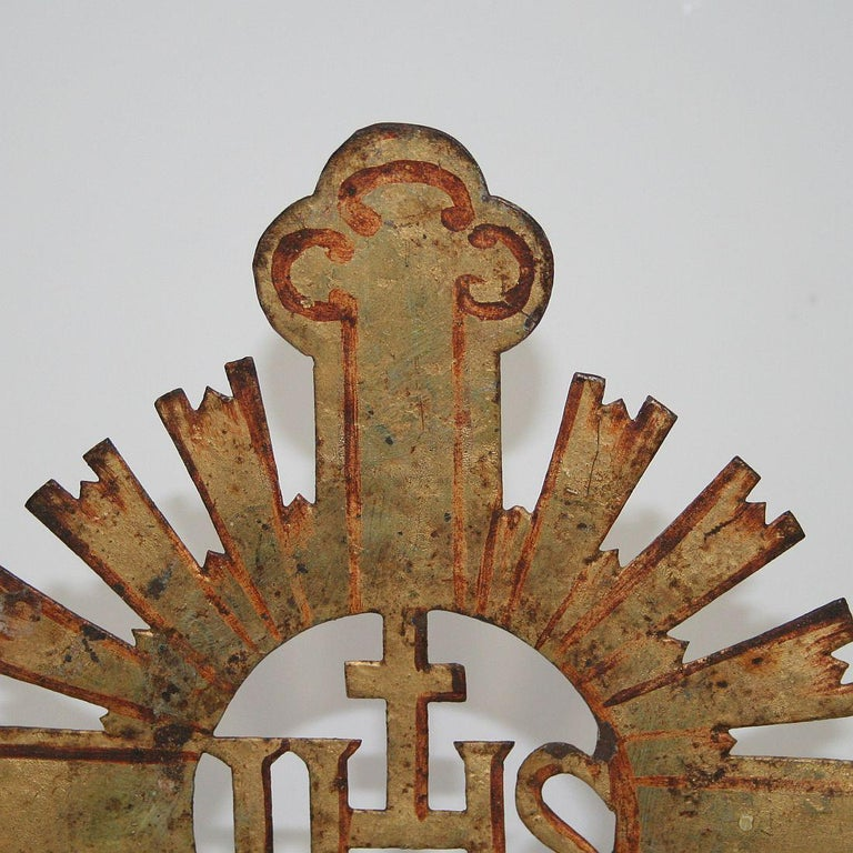 French 18th Century Forged Iron Processional Cross For Sale 2