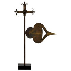 French 18th Century Forged Iron Weathervane