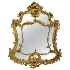 French 18th Century Giltwood Rococo Mirror