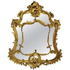 French 18th Century Giltwood Rococo Mirror