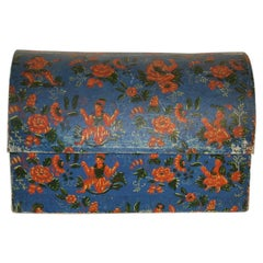 French 18th Century Hand Painted Cardboard Box