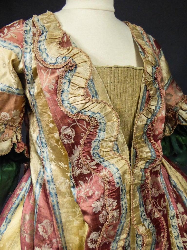 French 18th Century Interior Robe Volante Dress Louis XV Period For Sale 6