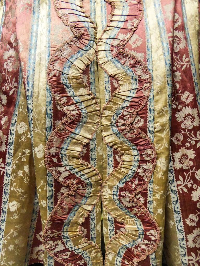 French 18th Century Interior Robe Volante Dress Louis XV Period For Sale 7