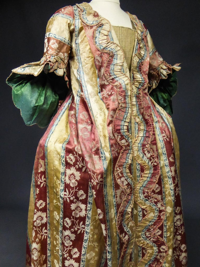 French 18th Century Interior Robe Volante Dress Louis XV Period For Sale 8