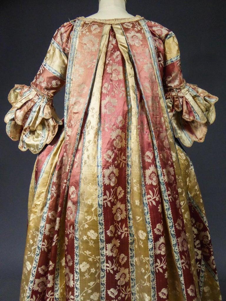 French 18th Century Interior Robe Volante Dress Louis XV Period For Sale 10