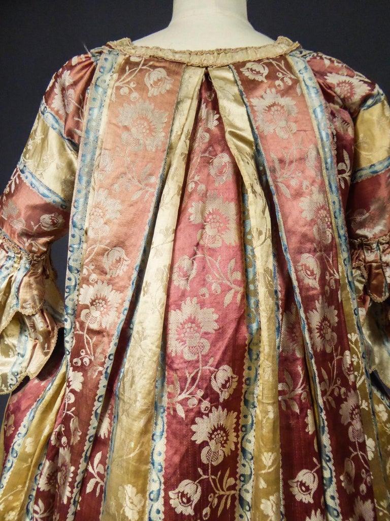French 18th Century Interior Robe Volante Dress Louis XV Period For Sale 11