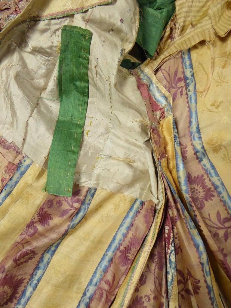 French 18th Century Interior Robe Volante Dress Louis XV Period For Sale 1