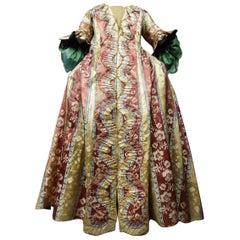 French 18th Century Interior Robe Volante Dress Louis XV Period