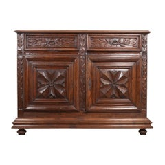 French 18th Century Louis XIII-Style Walnut Buffet
