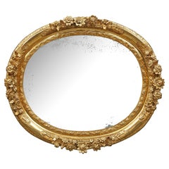 French 18th Century Louis XIV Period Finely Carved Giltwood Mirror