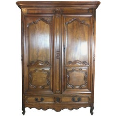 French 18th Century Louis XV Armoire from Lyon