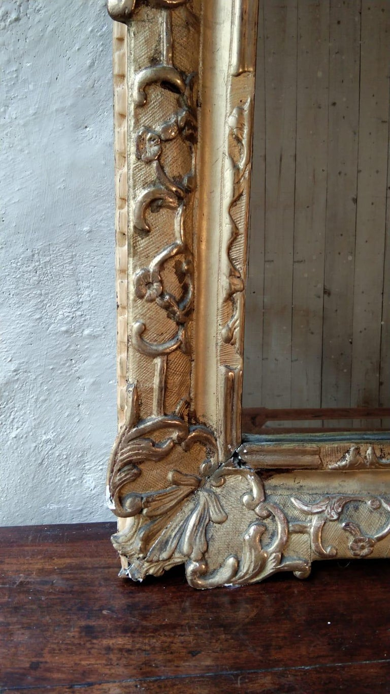 French 18th Century Louis XV Giltwood Mirror For Sale 2
