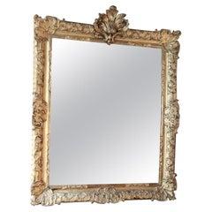 French 18th Century Louis XV Giltwood Mirror