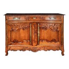French 18th Century Louis XV Honey Colored Walnut Buffet