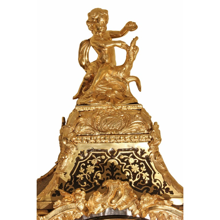 French 18th Century Louis XV Period Boulle Cartel Clock In Excellent Condition For Sale In West Palm Beach, FL