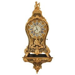 French 18th Century Louis XV Period Boulle Cartel Clock
