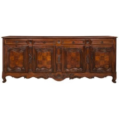 French 18th Century Louis XV Period Burl Walnut Buffet