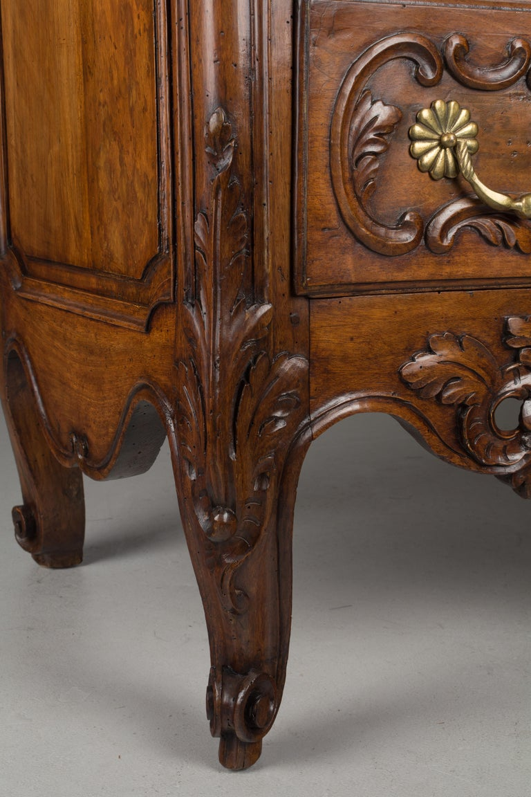 Hand-Carved French 18th Century Louis XV Period Commode or Chest of Drawers For Sale
