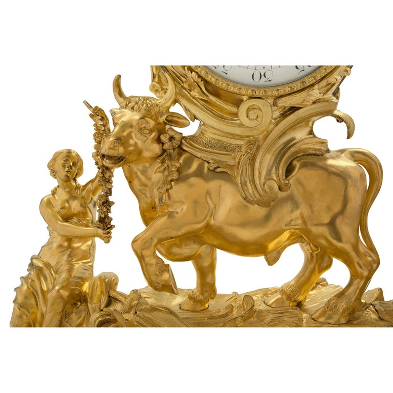 French 18th Century Louis XV Period Ormolu Clock For Sale 1
