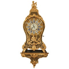 French 18th Century Louis XV Period Signed Cartel Clock