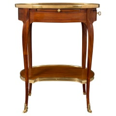French 18th Century Louis XV Period Tulipwood and Ormolu Side/Writing Table