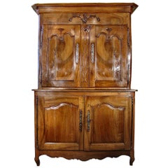 French 18th Century Louis XV Period Walnut 'Deux Corps'