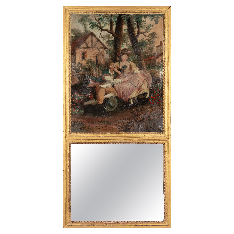 French 18th Century Louis XV Style Trumeau Mirror