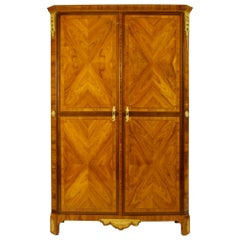 French 18th Century Louis XVI Marquetry Cabinet by Roger Vandercruse/Lacroix