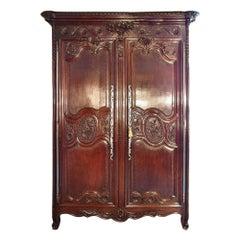 French 18th Century Louis XVI Period Oak Armoire
