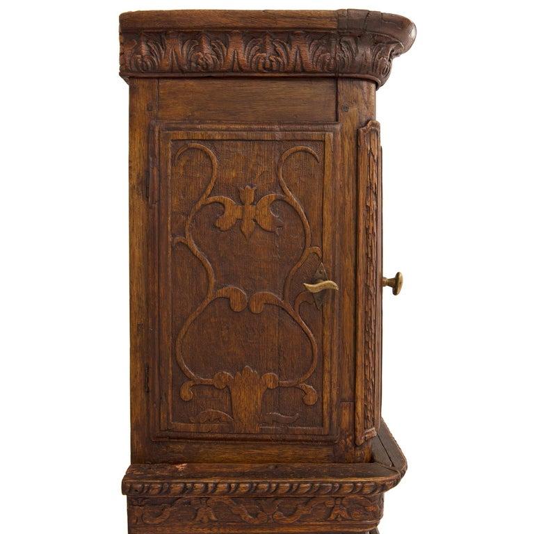 French 18th Century Louis XVI Period Oak Grandfather Clock For Sale 3