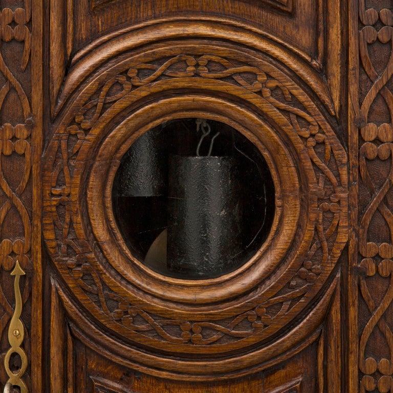 French 18th Century Louis XVI Period Oak Grandfather Clock For Sale 5
