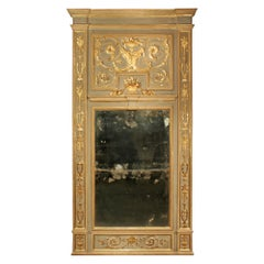 French 18th Century Louis XVI Period Patinated and Giltwood Trumeau