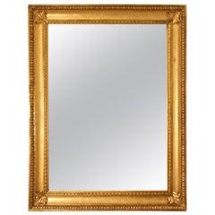 French 18th Century Louis XVI Period Rectangular Giltwood Mirror