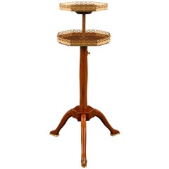 French 18th Century Louis XVI Period Side Table, with Adjustable Top Tier