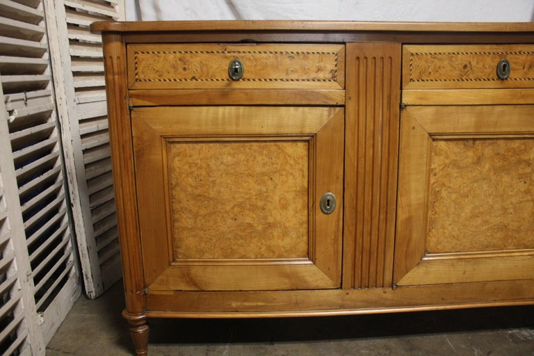 Inlay French 18th Century Louis XVI Period Sideboard For Sale