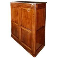 French 18th Century Louis XVI Style Solid Mahogany Cabinet