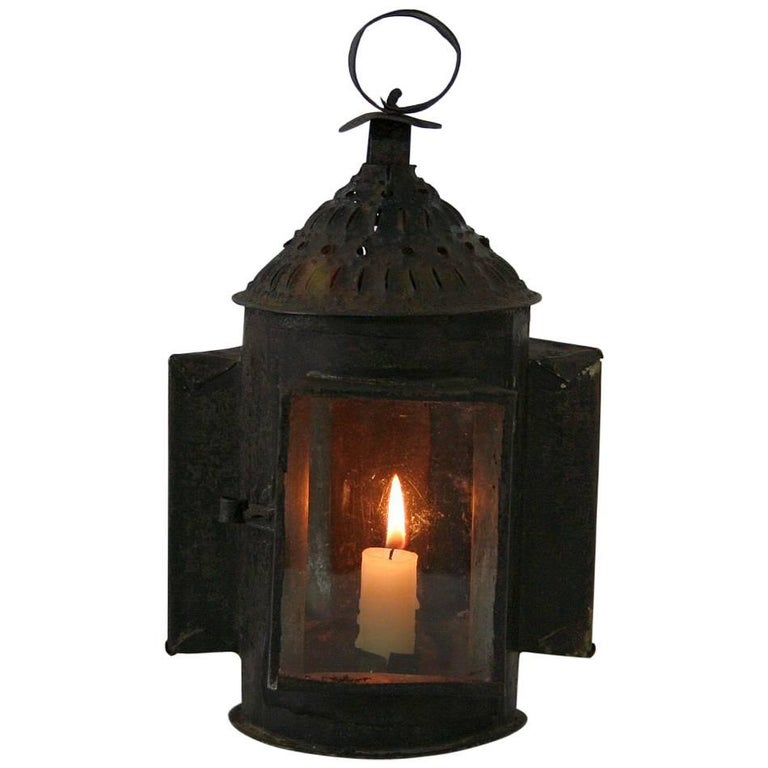 French 18th Century Metal Lantern For Sale