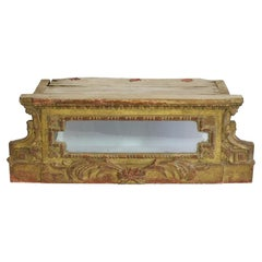 French 18th Century Neoclassical Gilded Pedestal or Reliquary Shrine