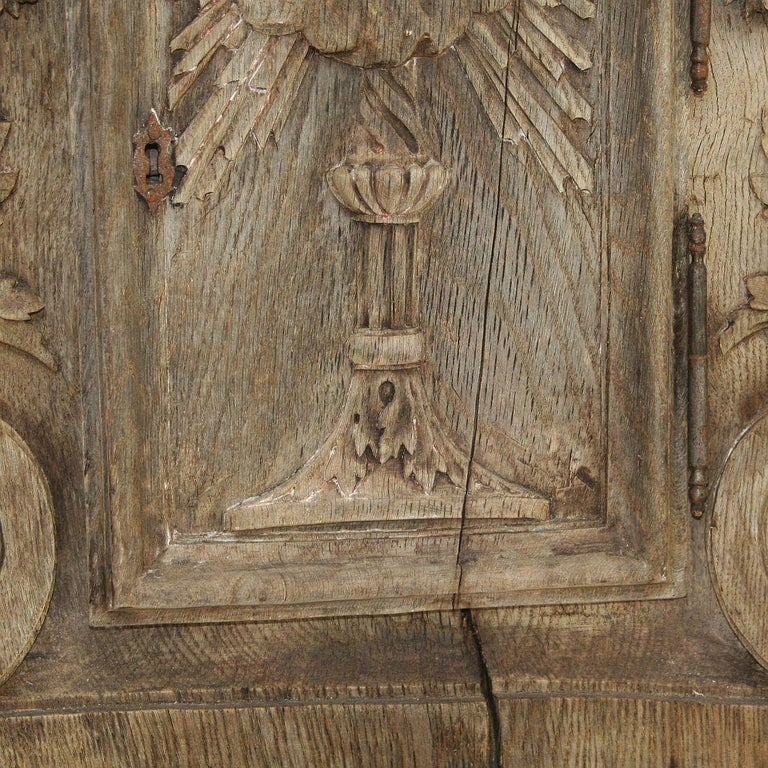 French 18th Century Oak Baroque Tabernacle Front For Sale 6
